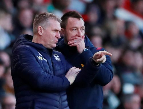 Aston Villa boss Dean Smith denies claims of 'furious tunnel bust-up' with John Terry after Southampton loss