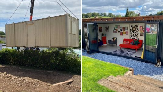 Family quoted £25,000 for garden cabin create their own for just £5,700