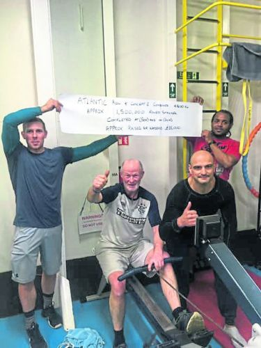 Oil worker completes Atlantic rowing journey in wake of rescue