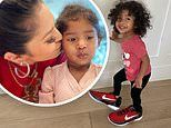 Vanessa Bryant's daughter Capri looks adorable as she stomps around in her mom's Kobe Nike shoes