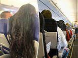 Mid-hair collision! Plane passenger sparks fury after draping long hair over the back of her seat