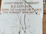 Gravestones honouring soldiers who died fighting for Australia in world wars destroyed by vandals