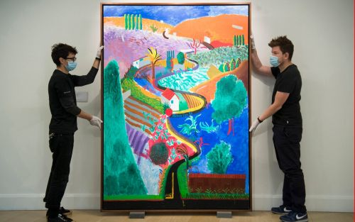 David Hockney painting valued at £27 million goes on display ahead of auction