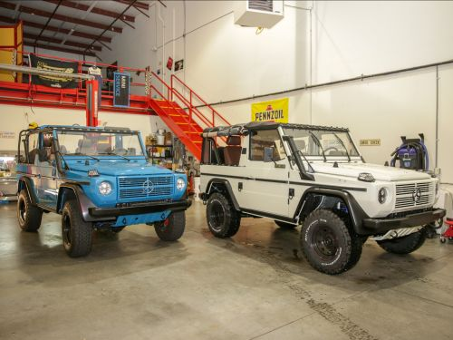 See how a New Jersey company restores vintage Mercedes-Benz G-Wagens from the German military and offers them for sale