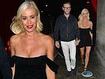 Denise Van Outen wows in a VERY low cut mini dress as she steps out with Eddie Boxshall