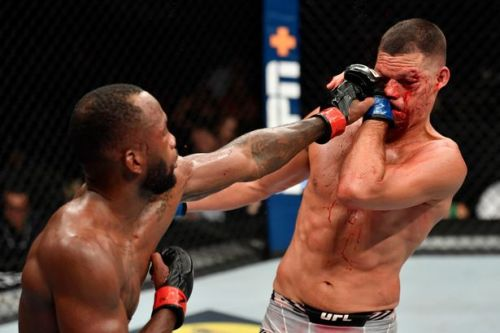 Leon Edwards survives late scare to beat bloodied Nate Diaz at UFC 263