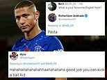 Everton striker Richarlison mocked by fans after claiming his favourite English food is pasta