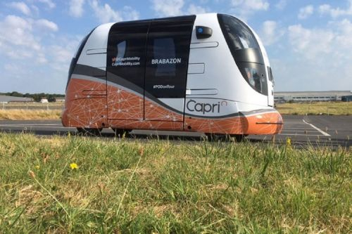 Driverless autonomous pods are now being tested in the UK