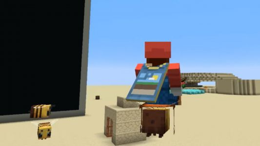 This Minecraft mod lets you ride bees