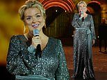 Sheridan Smith takes to the stage as she performs in honour of VJ Day