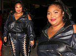 Lizzo is lovely in laced leather trousers as she heads to celeb-favorite Craig's in West Hollywood