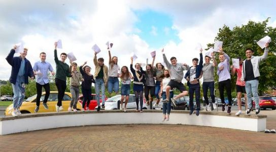 Video: Northern Ireland pupils celebrate A-level results