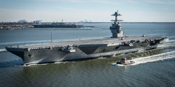The Navy pulled off 22 aircraft landings in just over 26 minutes in a demanding test of gear for its new supercarriers