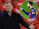 Barcelona boss Ronald Koeman insists Lionel Messi is making the difference and others must step up