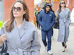 Angelina Jolie takes her son Maddox, 17, on a tour of New York University