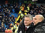 Ole Gunnar Solskjaer and Pep Guardiola unite to condemn crowd disorder in Manchester derby