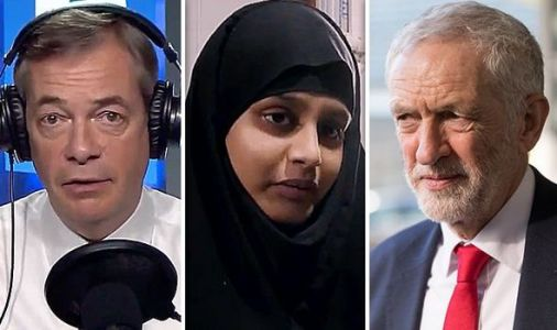 'Tone is WRONG' Farage's BRUTAL swipe at Corbyn for wanting to 'welcome back' ISIS bride
