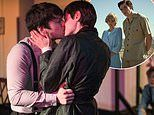 Pictured: Crown star Emma Corrin's first stage kiss