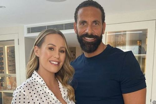 Rio Ferdinand posts first snap with son Cree as they match in taupe tracksuits