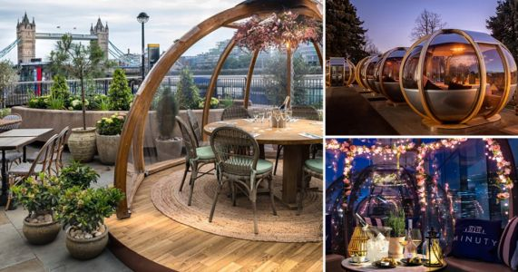 Make the most of the rule of six in these private dining pods