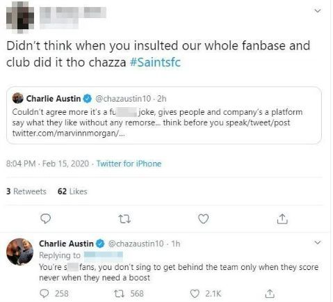 West Brom star Charlie Austin launches foul-mouthed rant at fans of his former club Southampton