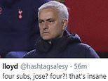 Spurs fans stunned as Jose Mourinho makes quadruple half-time change in shock Royal Antwerp defeat