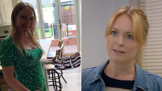 Emmerdale's Michelle Hardwick shows off baby bump and baking skills as she embraces pregnancy