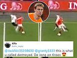 Fans go mad for Frenkie de Jong after Holland midfielder bamboozles Toni Kroos