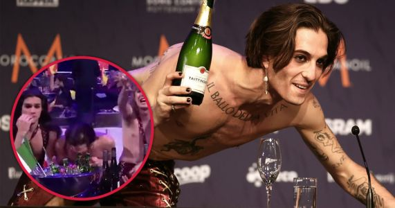 Eurovision 2021 bosses confirm Måneskin's Damiano David will take drugs test and 'found glass' on table