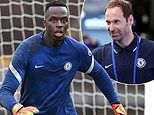 Chelsea new boy Eduoard Mendy loving training alongside Petr Cech