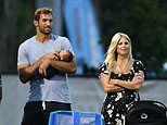 Tiger Woods' ex Elin Nordegren, 39, cheers on their son at soccer as Jordan Cameron holds new baby