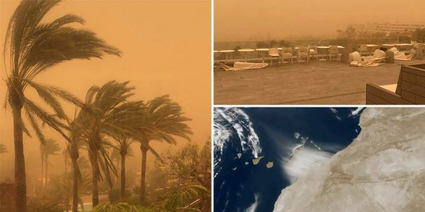 Travel chaos as Brits stranded in Canary Islands amid Saharan sandstorm