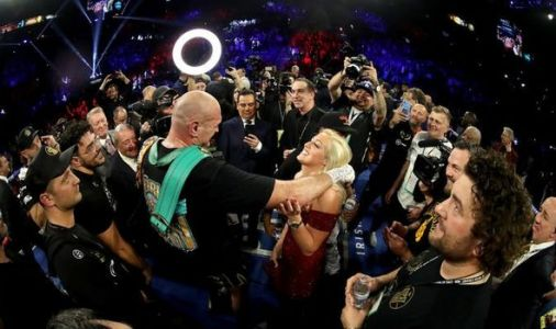 Tyson Fury shares intimate moment with wife Paris after victory over Deontay Wilder