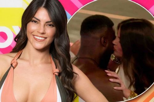 Love Island's new girl Rebecca kisses Mike Boateng after she makes her debut in tonight's show