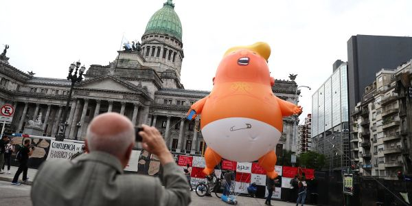 A giant Trump baby blimp that the president says makes him 'feel unwelcome' is following him to London this summer - and could be 5 times as big