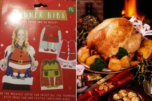 Card Factory launch 99p Christmas dinner bibs 'for the messiest eaters'