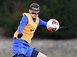 Andreas Christensen wears mask in Chelsea training after being declared fit to face Tottenham
