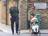 Christine Lampard enjoys a family stroll with husband Frank and their daughter Patricia