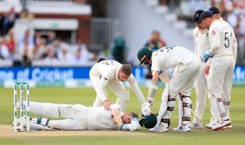 Steve Smith smashed in neck with ball as England bowler Jofra Archer floors Australia star