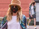 Cara Delevingne keeps it beach bum chic in tropical floral print shirt for errands in Beverly Hills