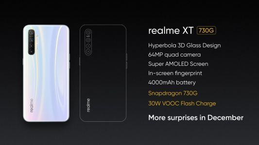 Realme XT 730G with 30W VOOC charging teased, launch set for December