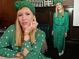 Natasha Bedingfield dons an all green outfit for theWomen in Harmony Pre-Grammy brunch