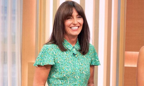 Davina McCall's green floral dress on This Morning is perfect for the sunny weekend ahead