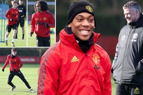 Ole Gunnar Solskjaer introduces new faces to Man Utd training session ahead of Man City