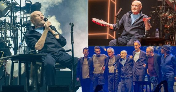 Phil Collins joins Genesis on stage for final tour but remains seated amid health issues