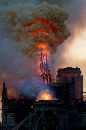 Notre Dame fire - World leaders and celebs mourn loss of iconic cathedral as Emmanuel Macron vows: 'We will rebuild'