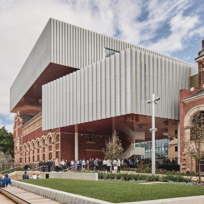 Hassell and OMA complete top-heavy WA Museum Boola Bardip in Perth