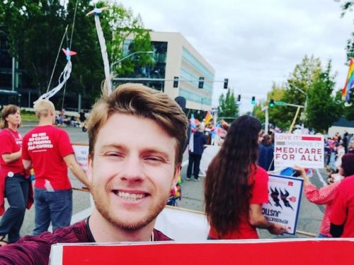 A 26-year-old socialist running for Congress says he lived in his truck with his wife for a year to save up money to run