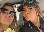 Michelle Money poses with Brielle on Memorial Day after opening up about her skateboarding accident