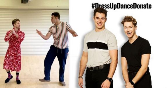 Curtis and AJ Pritchard want fans to DressUpDanceDonate for the NHS after they saved Curtis's dance career